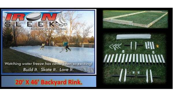 Iron Sleek 20 X 46 Skating Rink Kit