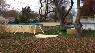 3 sides tall, backyard rink frame