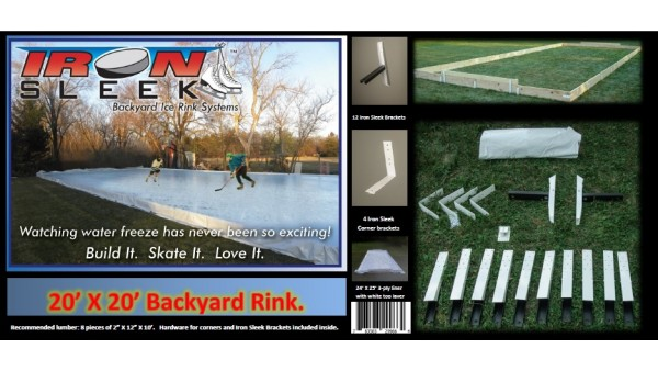 Iron Sleek 20 X 30 Skating Rink Kit