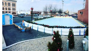 Parking lot Rink during Christmas
