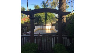 Welcome to my patio rink
