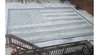 USA rink shovelling Fun