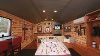 It's a hockey heaven shed.