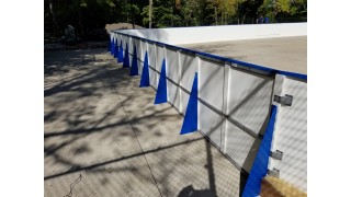 Permanent Rink on Concrete pad