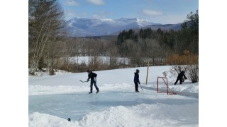 Rink in Vermont with Canada in the Background